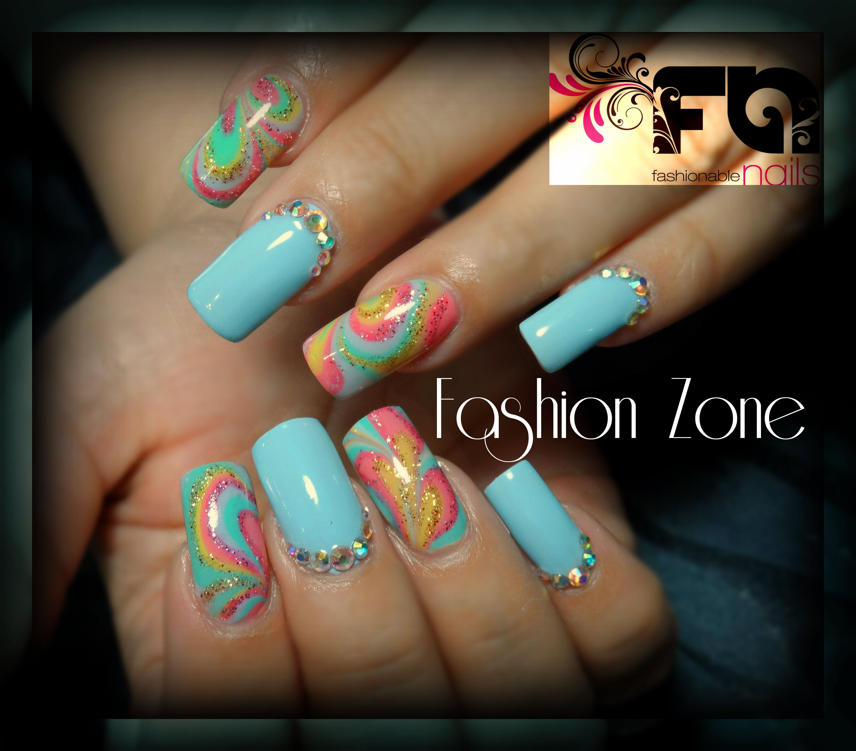 Fashion Beauty Zone: Nails. Marbolizado !!! Diseño Hecho En Fashion Zone