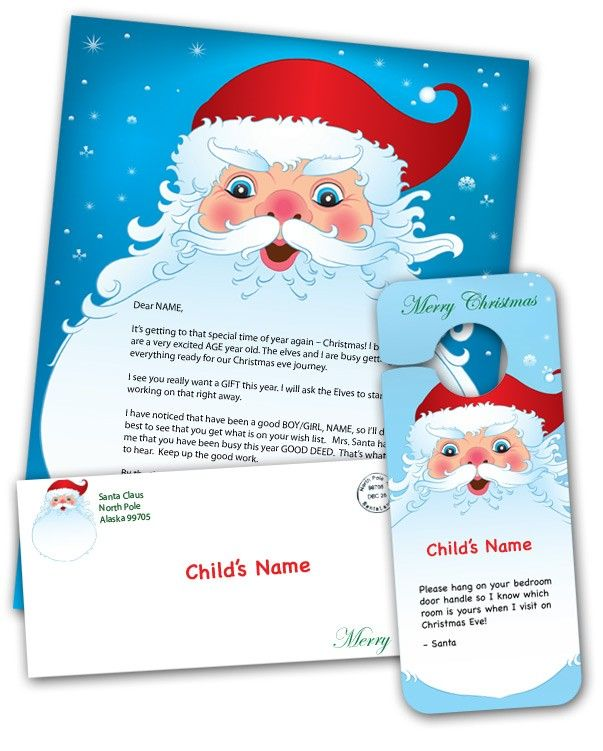 Free Printable Personalized Santa Letters  Christmas