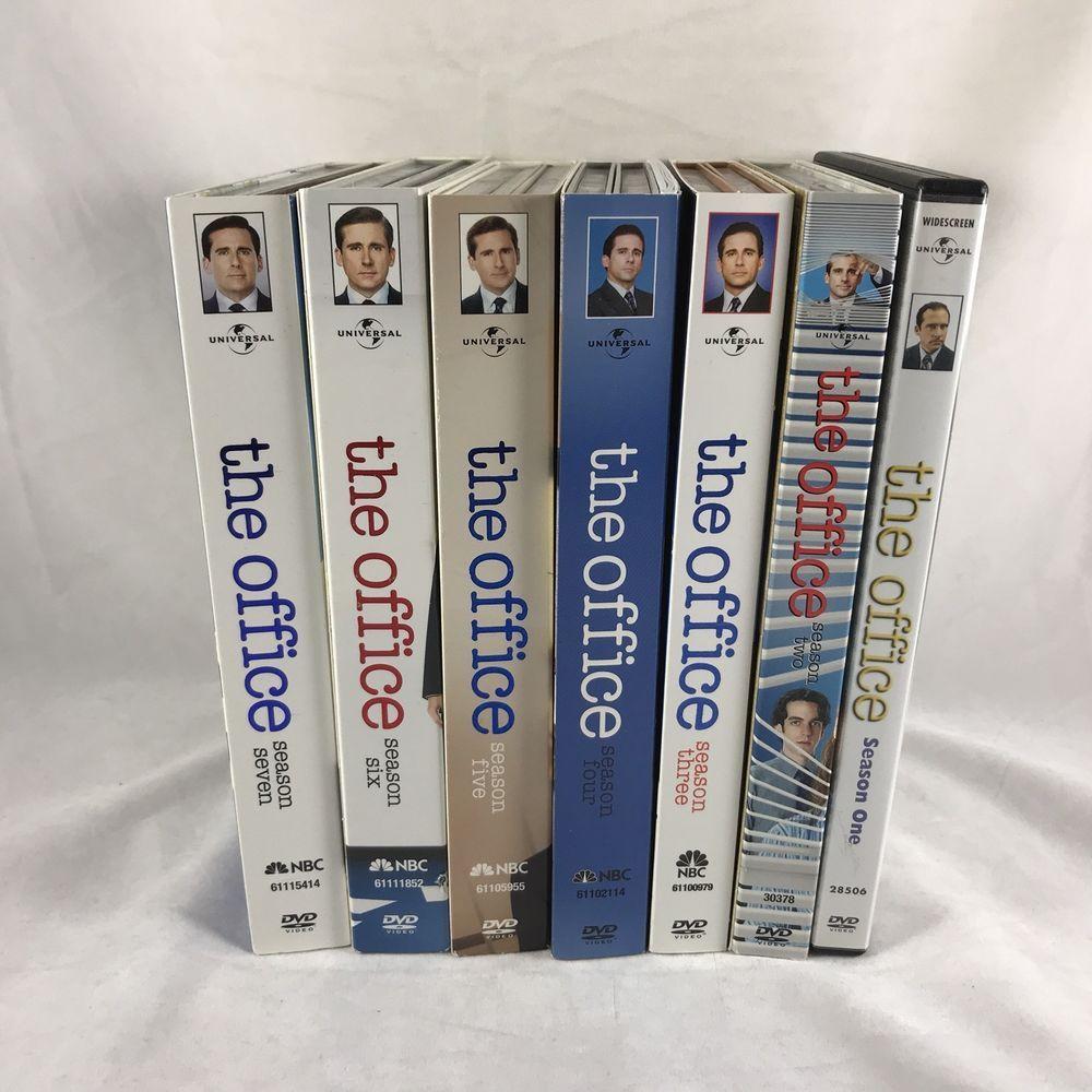 The Office Season 1 7 Dvd Box Set Lot 1st Edition Embossed Nbc Tv Steve Carell