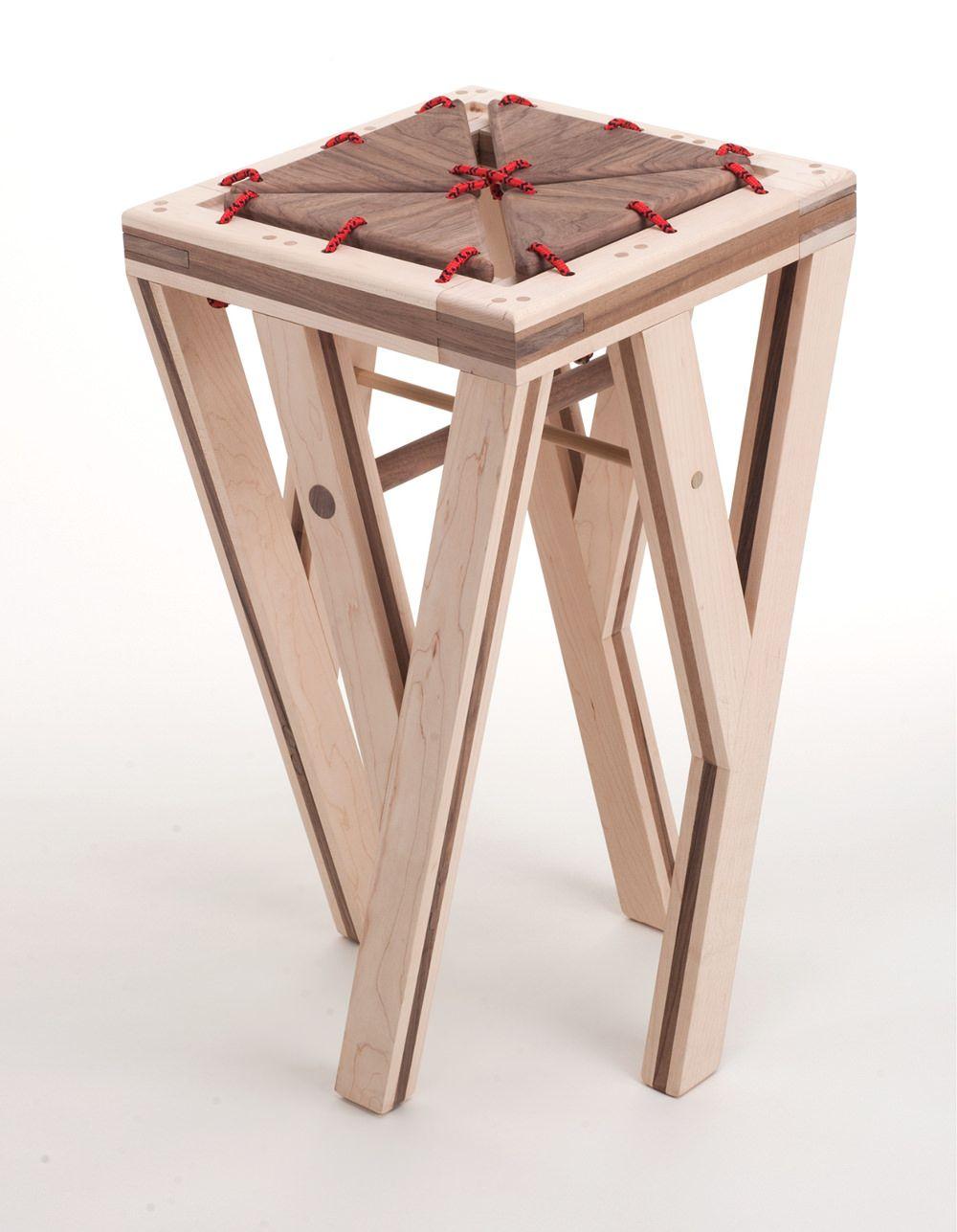 timber tabouret souple de bois par greg howe | rempaillage