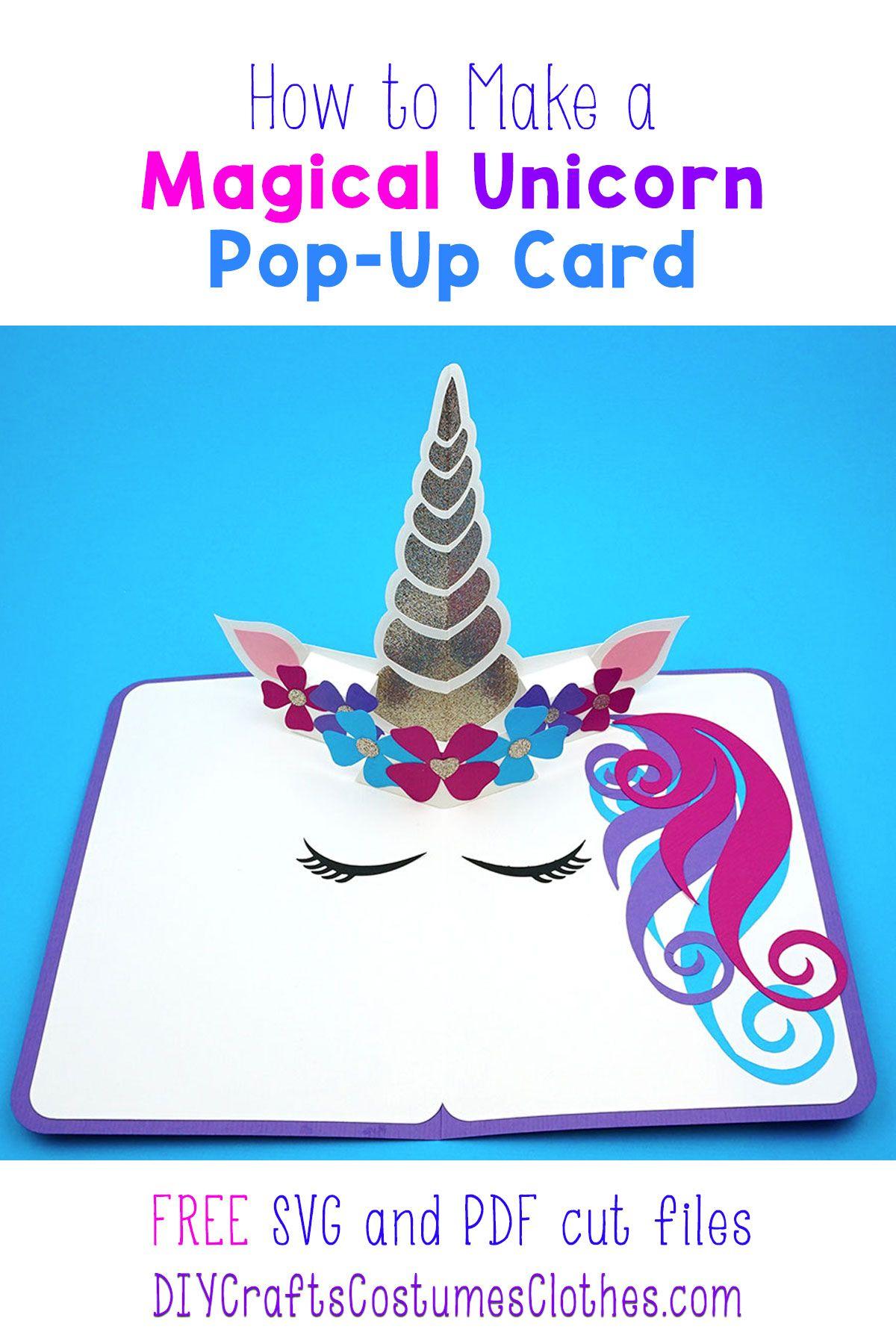 Unicorn Pop Up Card Diy Unicorn Birthday Cards Diy Unicorn Birthday Card Birthday Card Pop Up