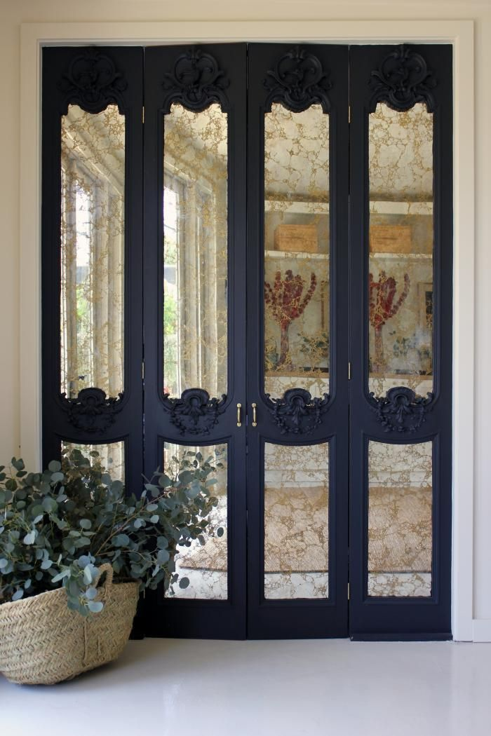 Glass Accordion Doors Antique Glass On Folding Doors Home