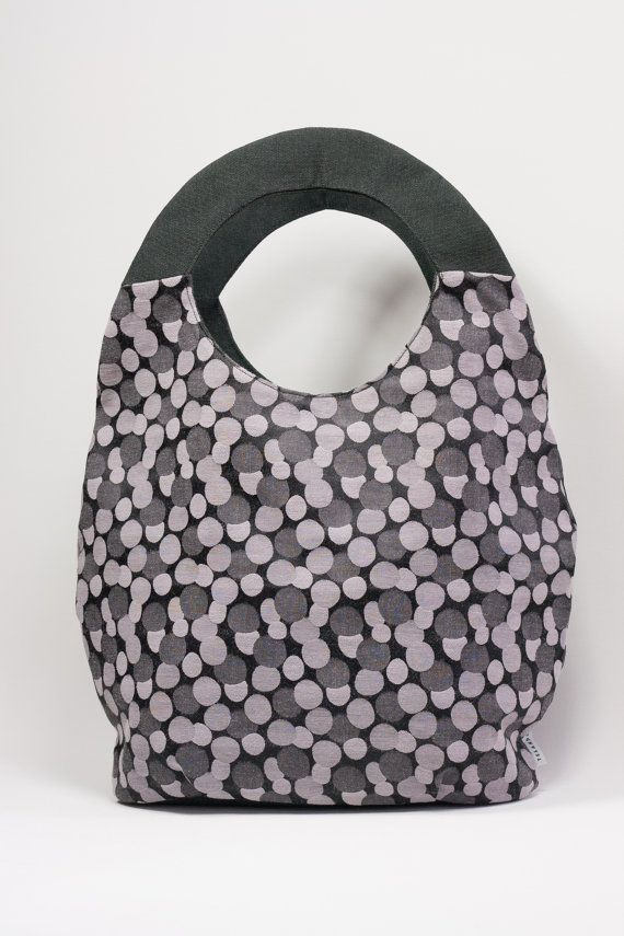 Bolso Lunares Y Gris Por Telando Totes And Bagsdesigner