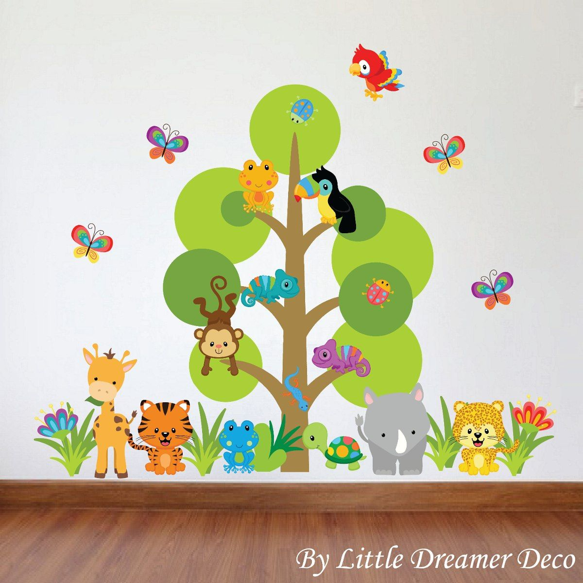 Dise os infantiles de animales buscar con google for Vinilos decorativos pared ninos