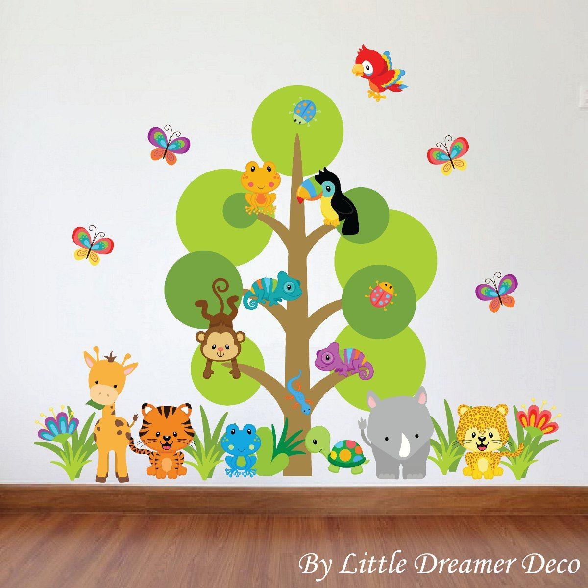 Dise os infantiles de animales buscar con google - Decoracion pared ninos ...