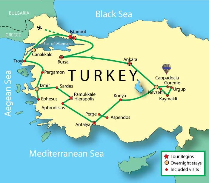Turkey Expert Tour Istanbul Troy Pergamon Ephesus Pamukkale