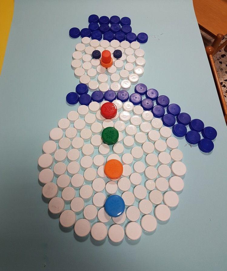 Lavoretti Di Natale Con Tappi Di Plastica.Pupazzoi Di Neve Lavoretti Invernali Oggetti Artistici Con Bottiglie Creazioni Con Bottiglie Di Plastica