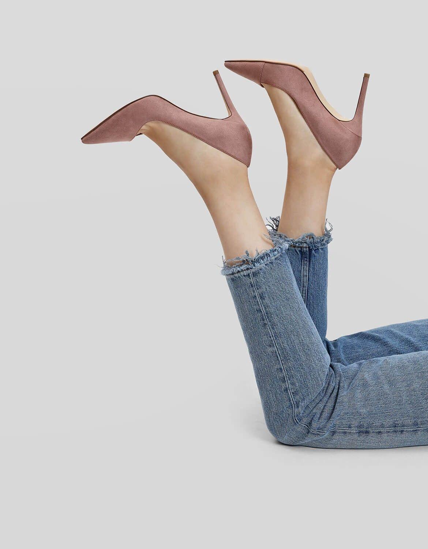 271fc46409b Nude Asymmetrical Topline Stilettos | CHARLES & KEITH | Shoes in ...