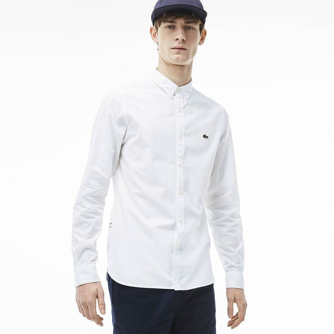 Predownload: Lacostelive Nos Trae Su Camisa Mas Skinny Y Disponible En Dos Colores Online Y En Tienda Befunwear Fashion Chef Jackets Lacoste [ 1080 x 1080 Pixel ]