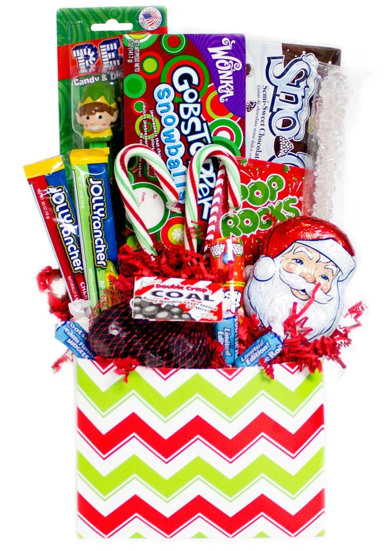 Chevron Print Christmas Candy Gift Basket (coming soon)   Christmas ...