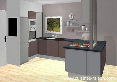Cuisine design moderne - Aménagement de la pièce en u - Matière ...