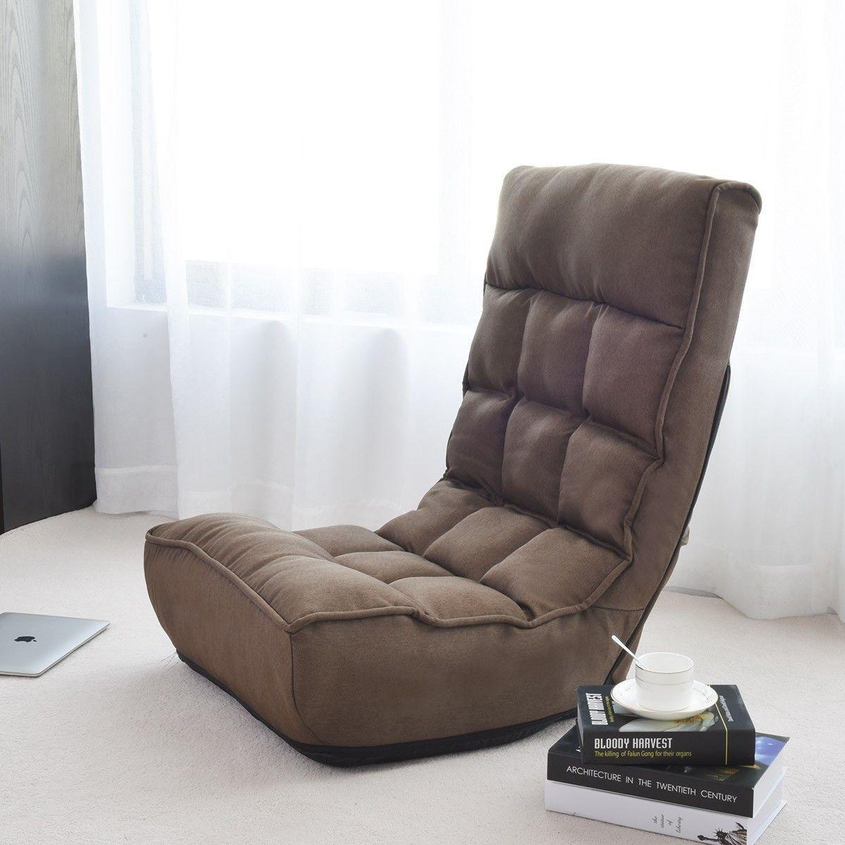 4Position Adjustable Floor Chair Folding Lazy Sofa