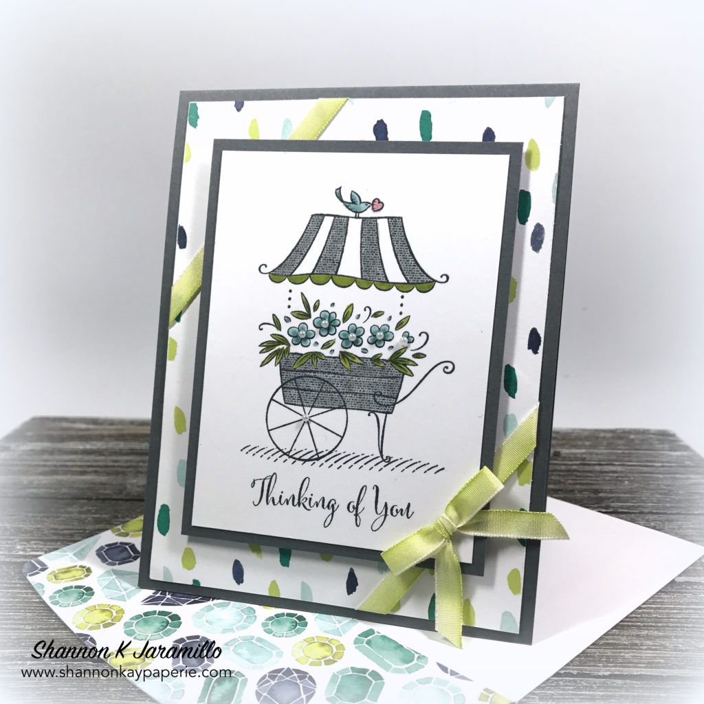 Oh My Gosh Isn T This Flower Cart Image From Stampin Up S New Set Friendship S Sweetest Thoughts The Cute Trading Card Ideas Stampin Up Cards Pretty Cards