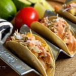 Honey-Lime Shrimp Tacos with Coconut-Mango Slaw