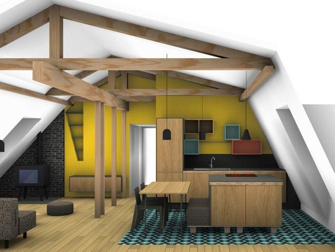 Appartement sous les toits paris 11 architecte interieur - Architecte interieur paris petite surface ...