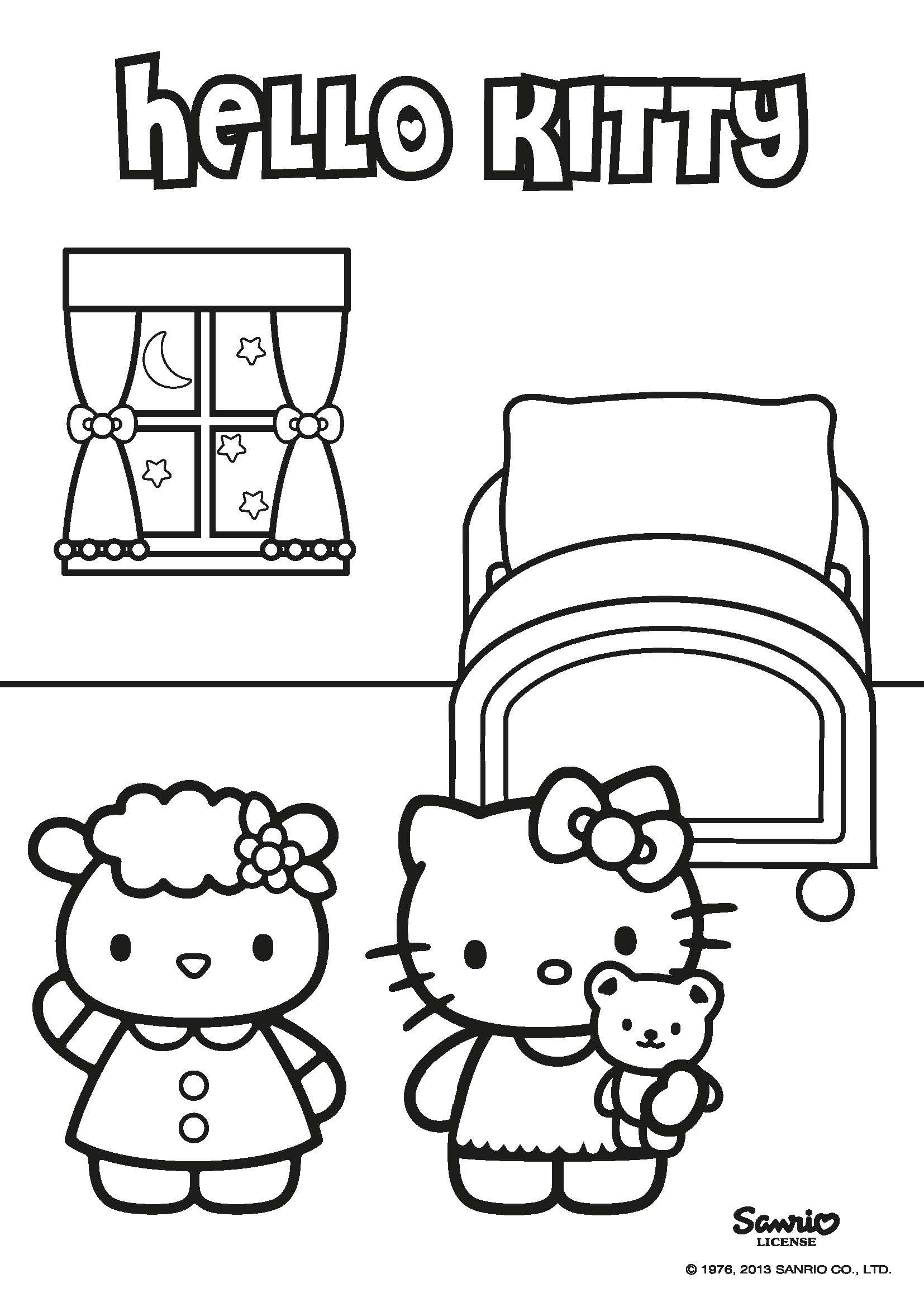 Hello Kitty Characters Coloring Pages | moshi monsters rox maker ...