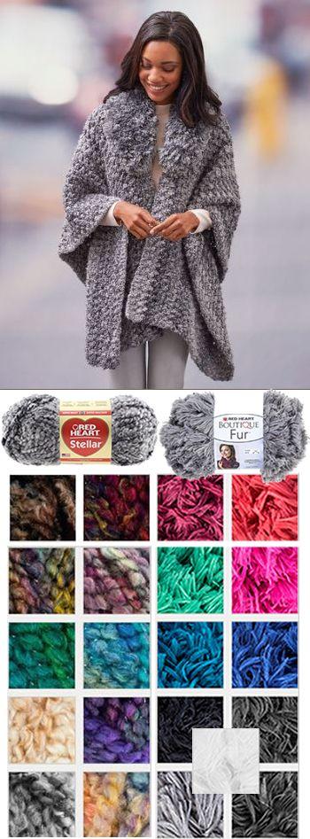 Crochet This Savvy Ruana Pattern Httpsknitting Warehouse