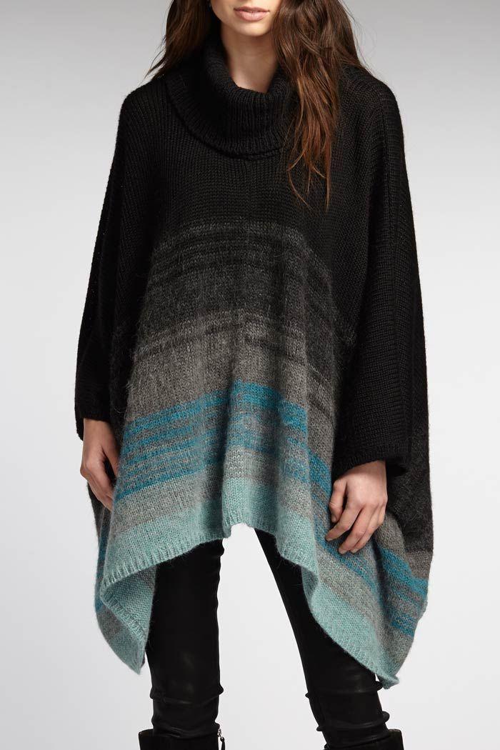 Alpaca Ombre Poncho | INDIGENOUS organic + fair trade