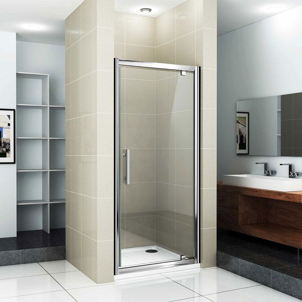 Replacement of hinged shower doors shower stalls enclosure pinterest shower doors doors for Bathroom shower stall replacement