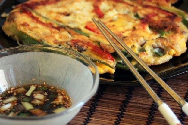 Korean Crepe Cake Recipe: Recette-coreenne-galette-legume…