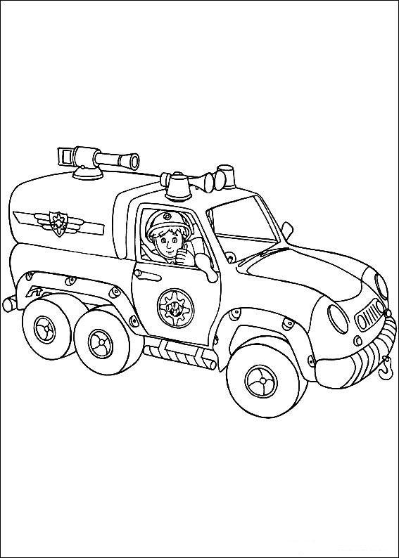 Tegninger til Farvelægning Brandmand Sam 1