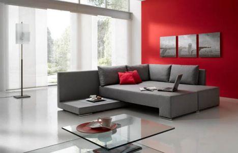 Linea Crib Transforms Into Bed Sofa As Baby Grows Into Adolescence Red Home Decor Living Room Red Grey Home Decor
