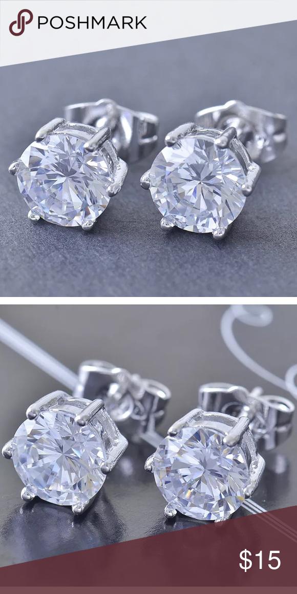 9k gold filled stud earrings-8mm round 9k gold filled stud earrings-8mm round Jewelry Earrings