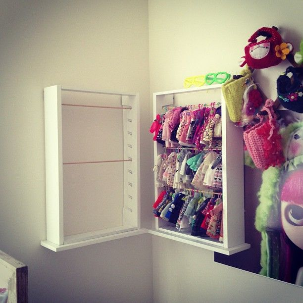 Genial Doll Clothes Storage Idea Only