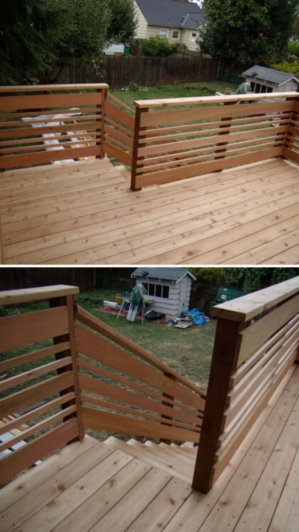 21 Creative Diy Deck Railing Ideas And Projects With Instructions Deck Railings Diy Deck Deck