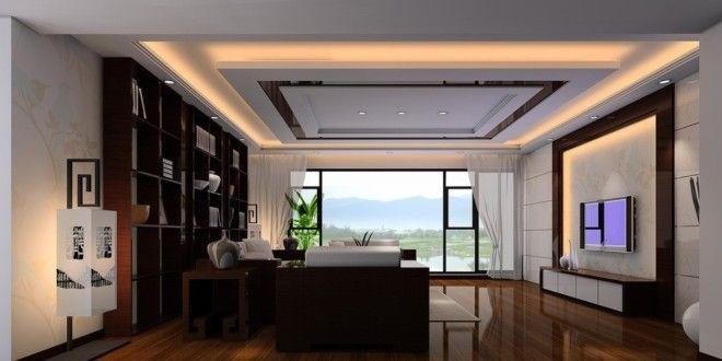 25 Elegant Ceiling Designs For Living Room | moderne Wohnzimmer ...