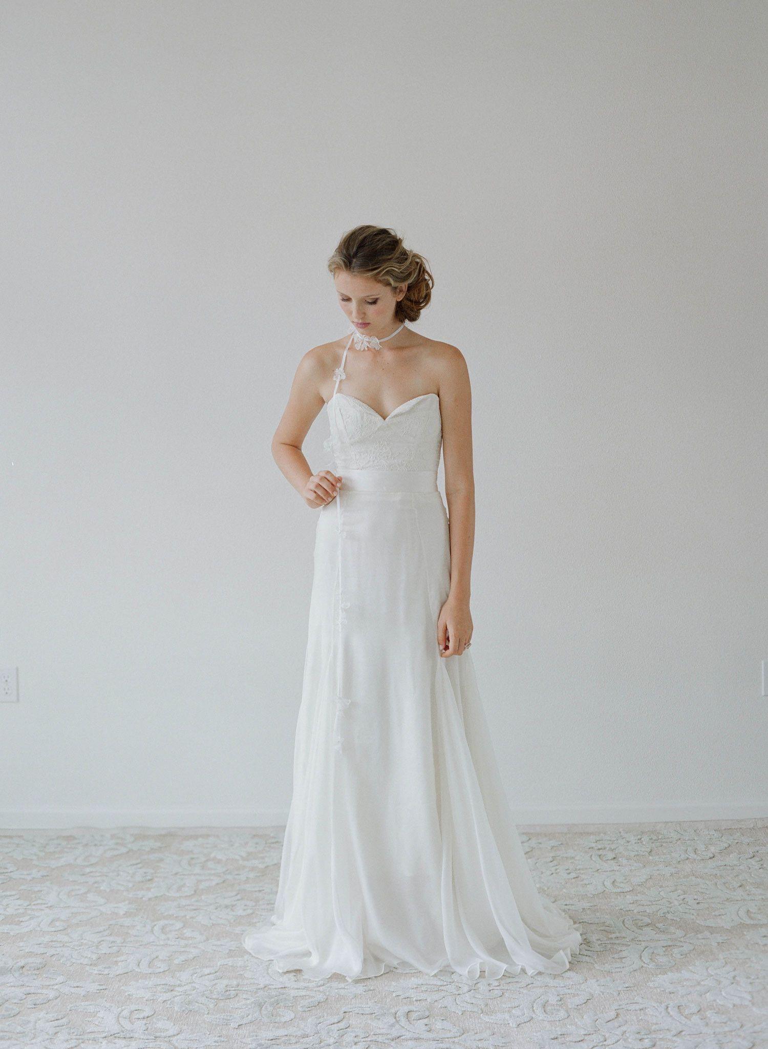 Quail - Lace bustier top - Syle # TH 2123 (2014 myra, bridal attire, myra callan bridal, separates, tops, view all) | Dresses | Twigs & Honey ®, LLC