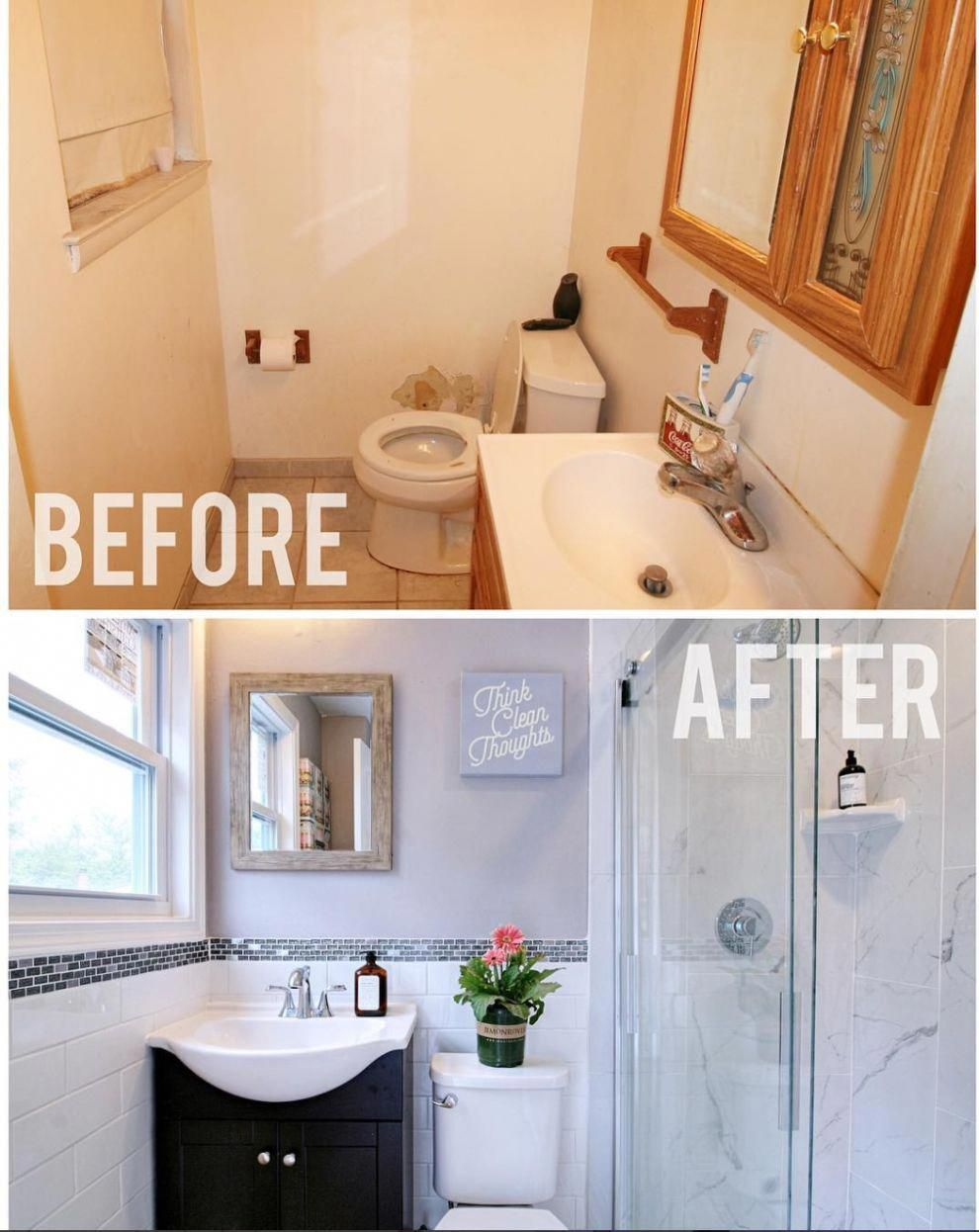 16 Before And After Bathroom Remodels That Are Literally Goals Homeremodelingpictures Bathrooms Remodel Diy Bathroom Remodel Small Bathroom