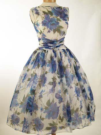 1dba7cafe2 Gorgeous 60s floral dress from Blue Velvet Vintage!