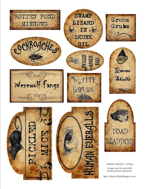 7 best images of halloween printable labels for jars halloween printables labels free printable halloween bottle labels and free printable halloween - Pinterest Halloween Printables