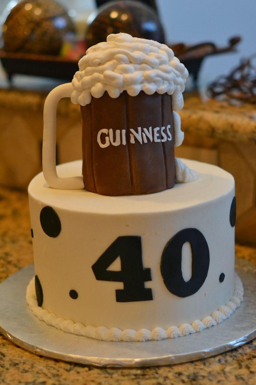 Guinness Beer Birthday Cake Bens Birthday In 2019 Themed