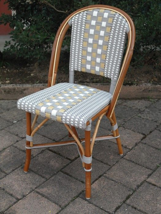 Beaufurn French Bistro Chair FB 220 In Pattern: (I) Weave In Grey