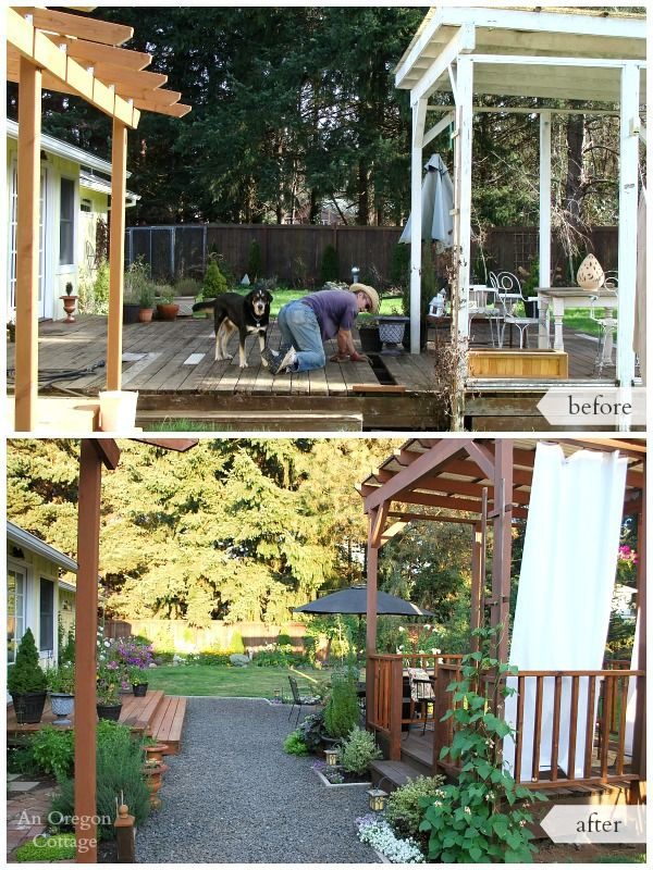 Diy Backyard Makeover Before And After Backyard Makeover Large