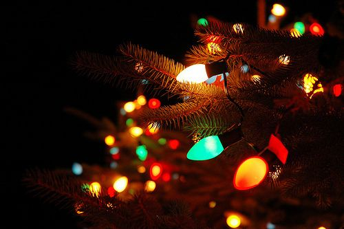 Photo Christmas lights