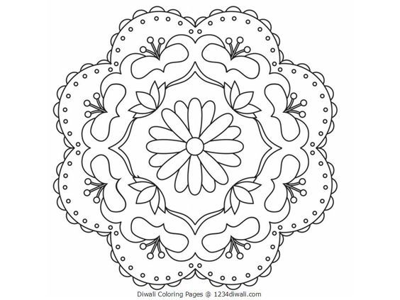 Diwali Coloring Pages Free Large Images Colouring Pages Coloring Pages Rangoli Patterns