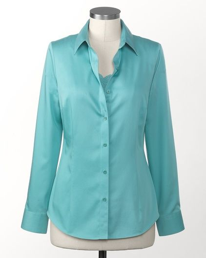 The sateen no-iron Perfect Shirt Robins Egg Blue