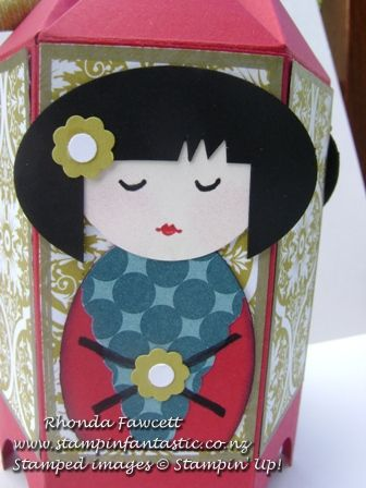 Asian characters punch out crafts