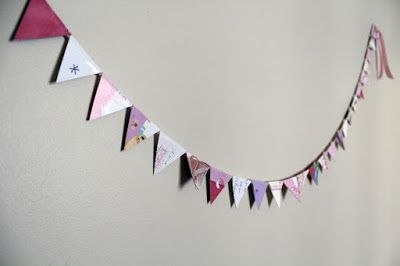 maker*land: How to make bunting out of old greeting cards