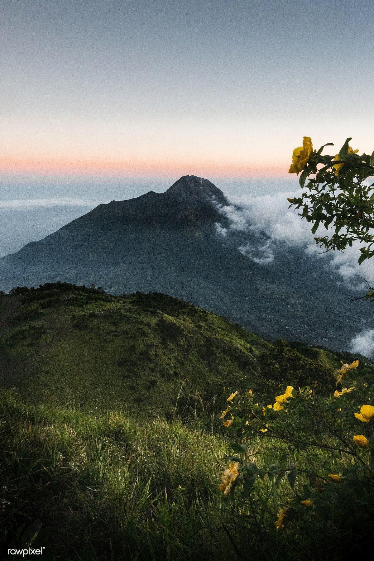 Fields On Gunung Merbau Mountain Indonesia Free Image By