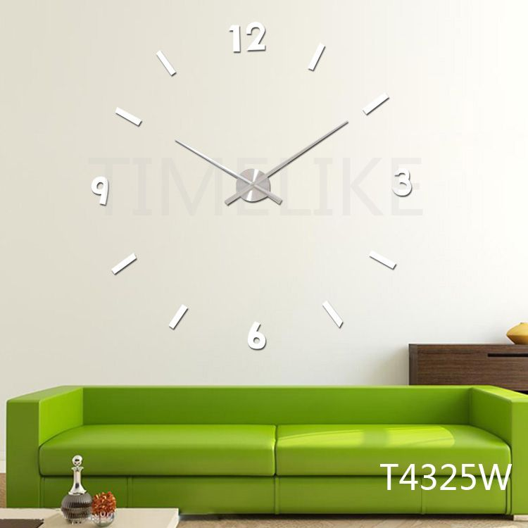 Buy Modern 3d Wall Clock Big Size Diy Quartz Large Clock Hands Wall