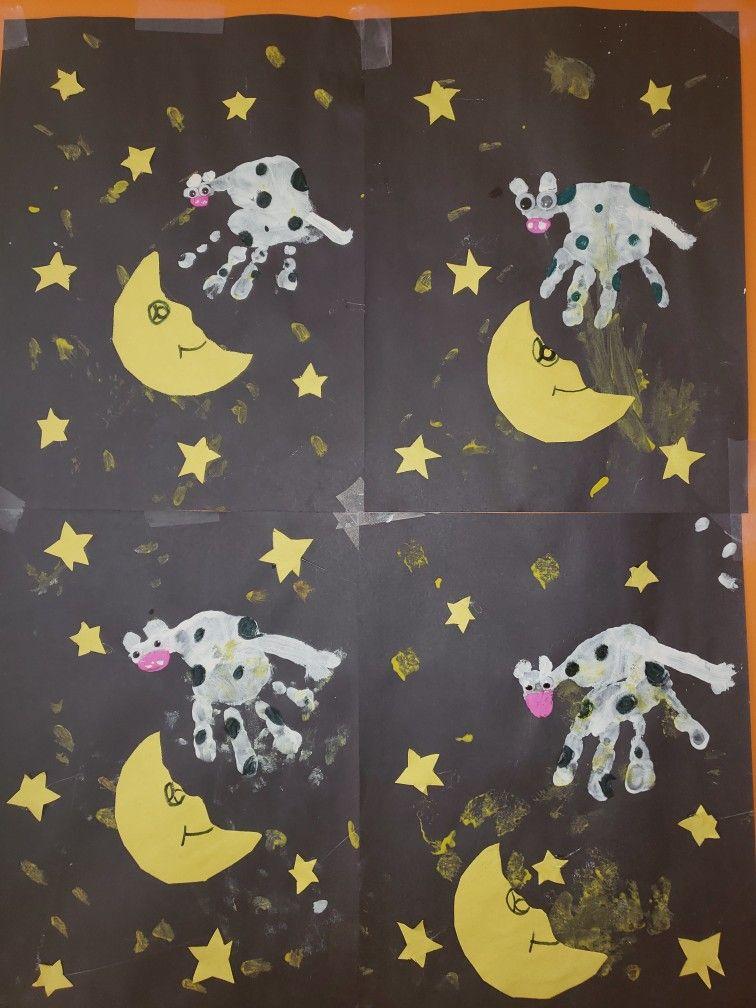 The Cow Jumped Over The Moon Preschool Art Nursery Rhymes Preschool Crafts Nursery Rhyme Crafts Nursery Rhymes Preschool Activities Nursery rhyme ideas for preschoolers