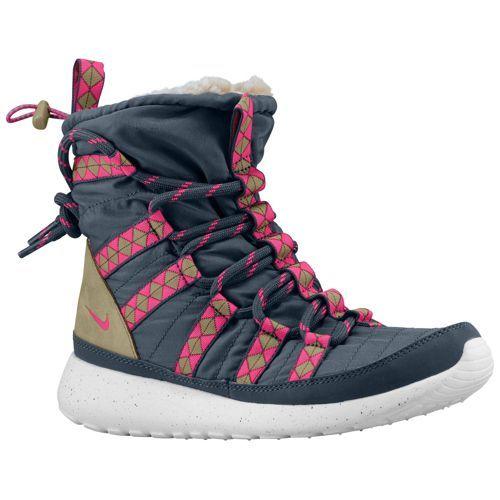Nike Roshe Run Hi Sneakerboot - Women s - Casual - Shoes -  Black Sail Linen University Red f990a639c