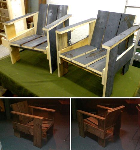 recycled wooden crate chairs.... inspiration. | DIY ...