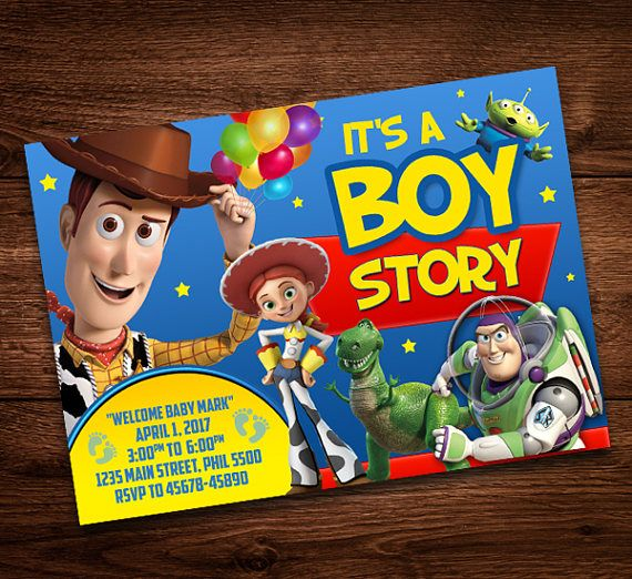 Toy Story Baby Shower Invite Card, Baby Shower, Digital