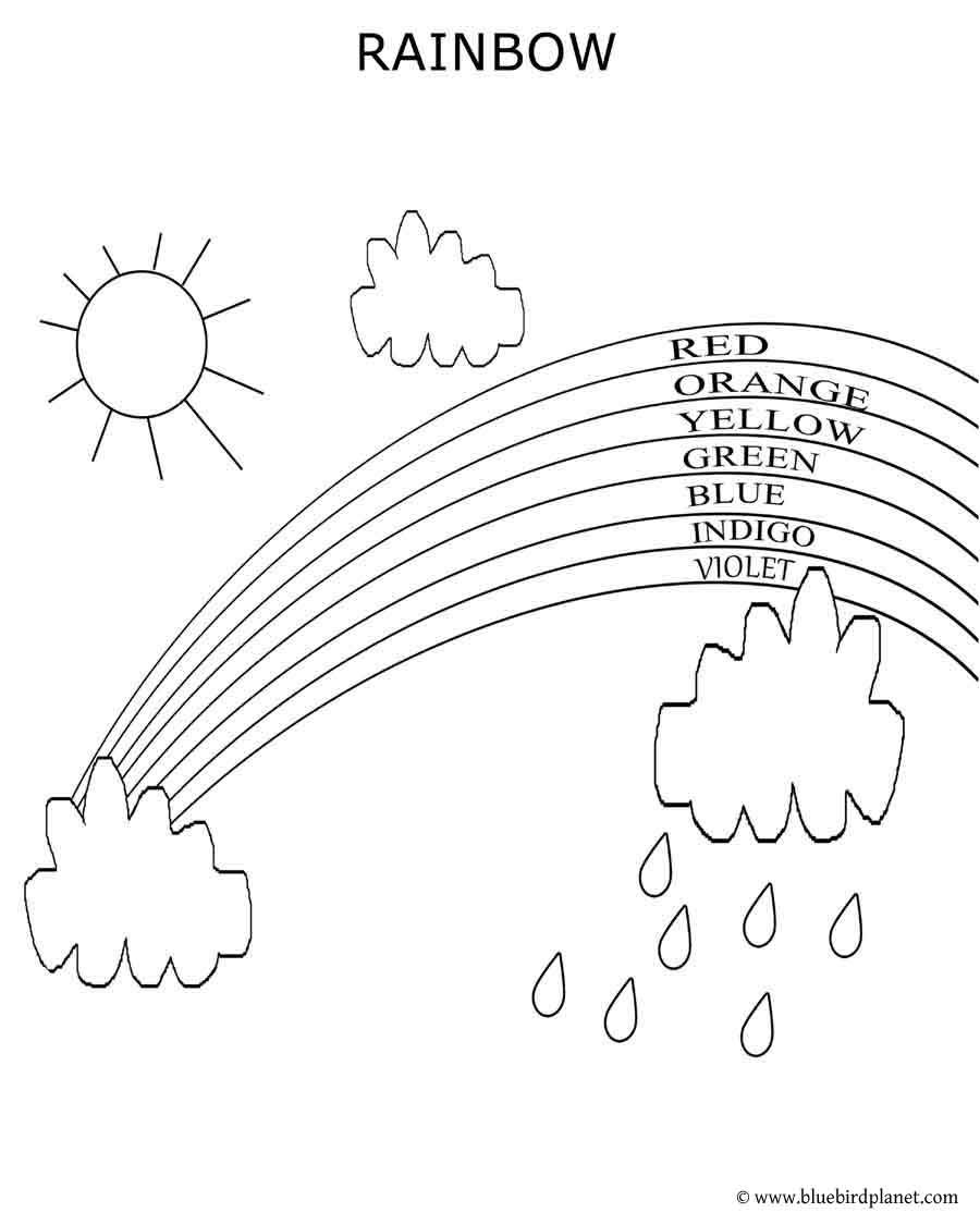 free printable worksheet coloring pages color the rainbow learn