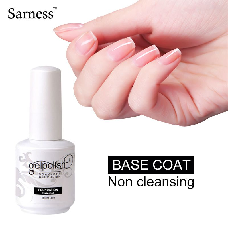 Sarness No Sticky Gel Nail Cover Clean Free Wipe Top Coat Long Lasting Soak Off